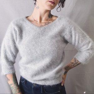 VINTAGE RAFIQUE Angora Lambswool Sweater